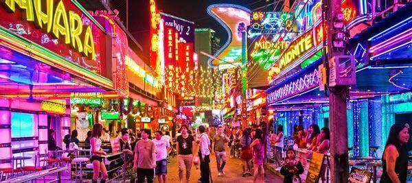 Bangkok Streets At Night